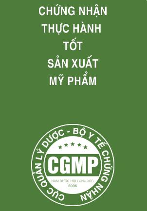 Chứng nhận thực hành tốt sản xuất mỹ phẩm CGMP